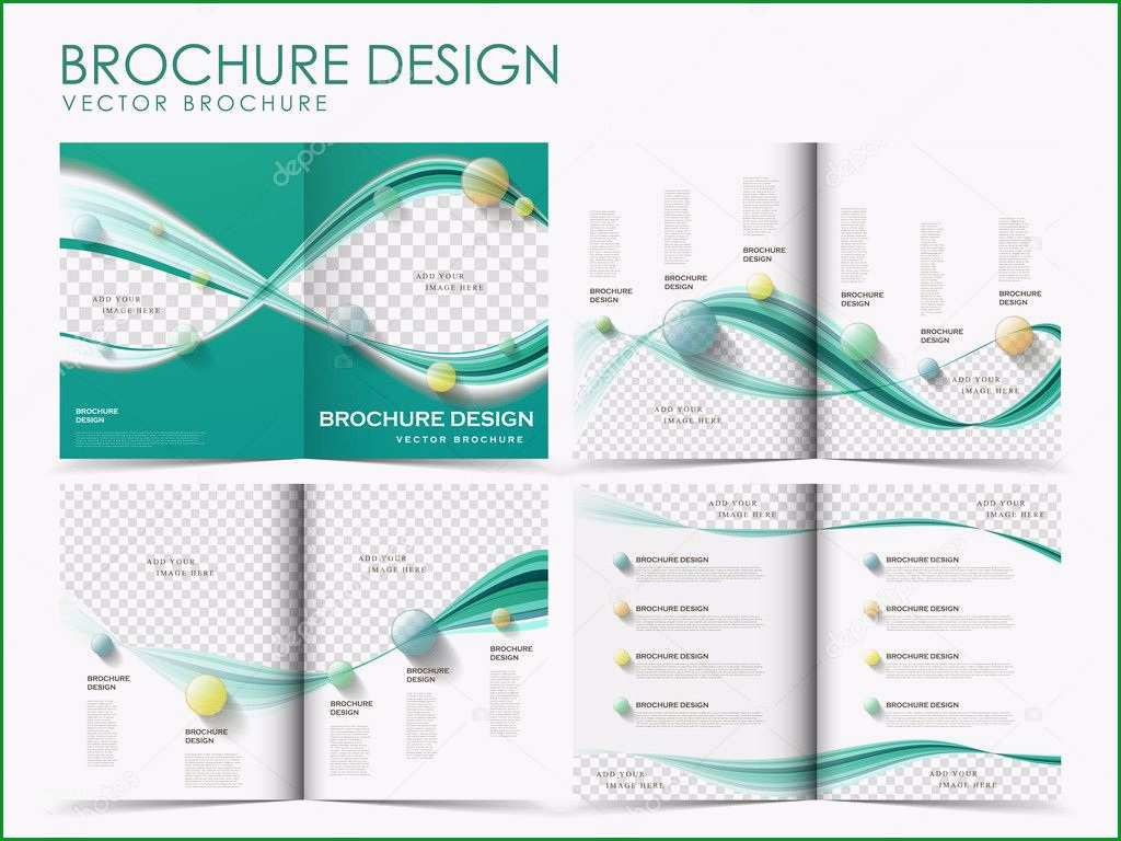 stock illustration vector brochure layout design template