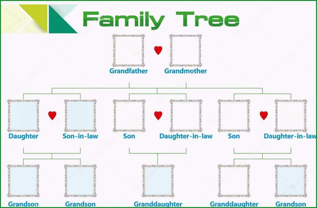 stock illustration template family tree