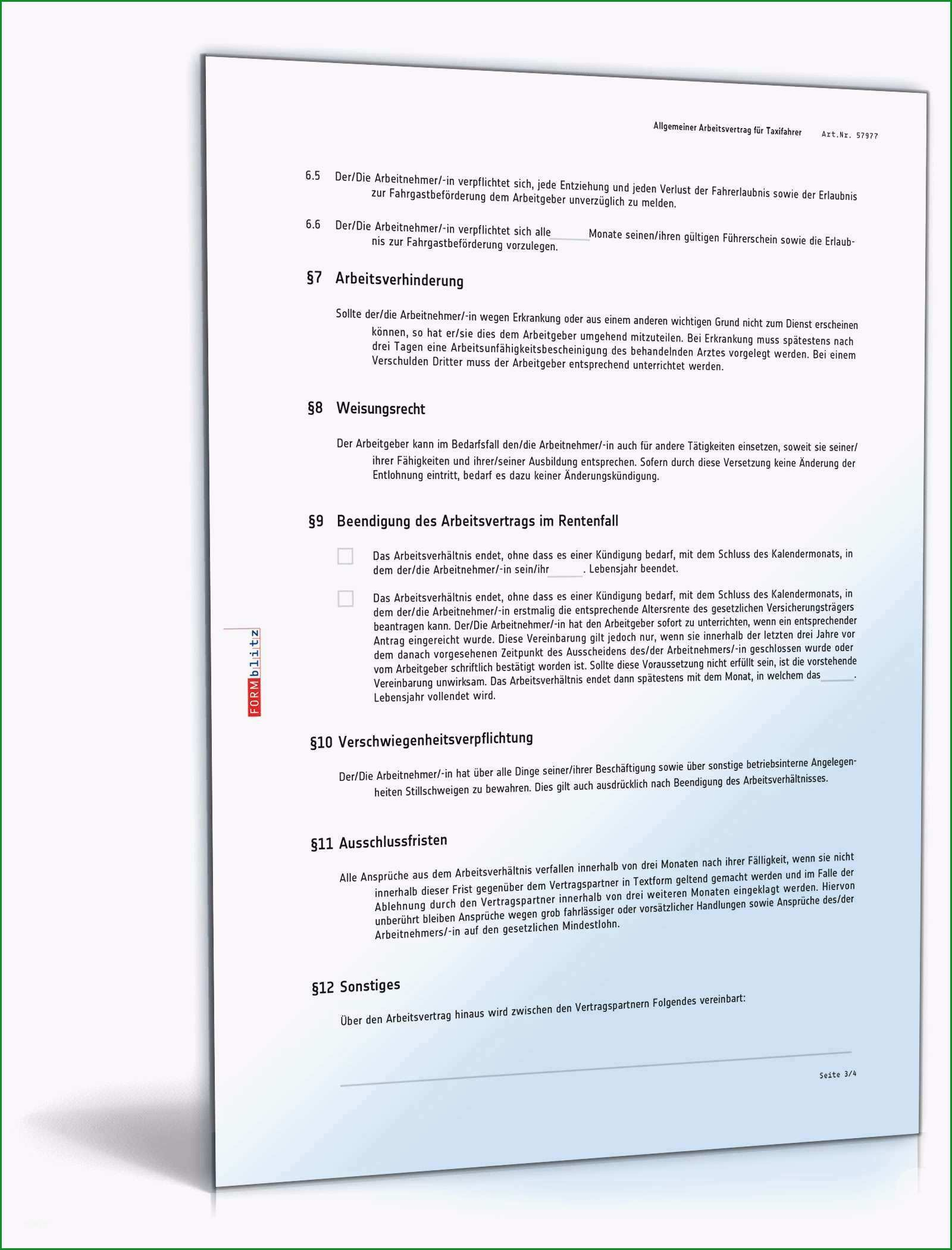 word vorlage broschure 2 seitig neu arbeitsvertrag fur taxifahrer muster als pdf und word