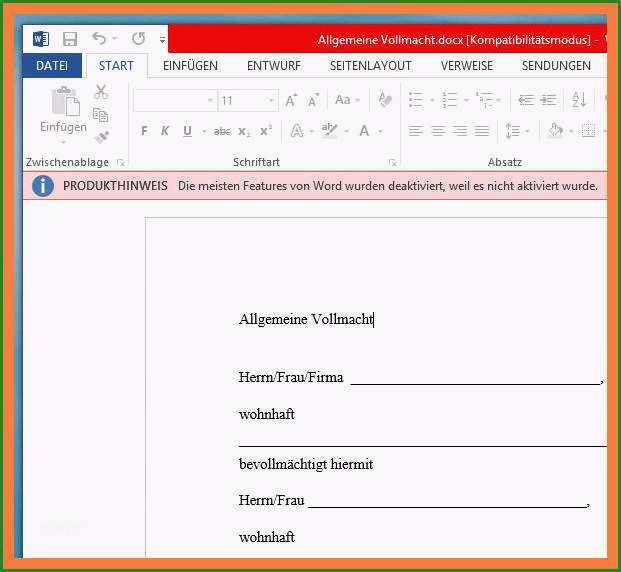 20 word formular vorlage