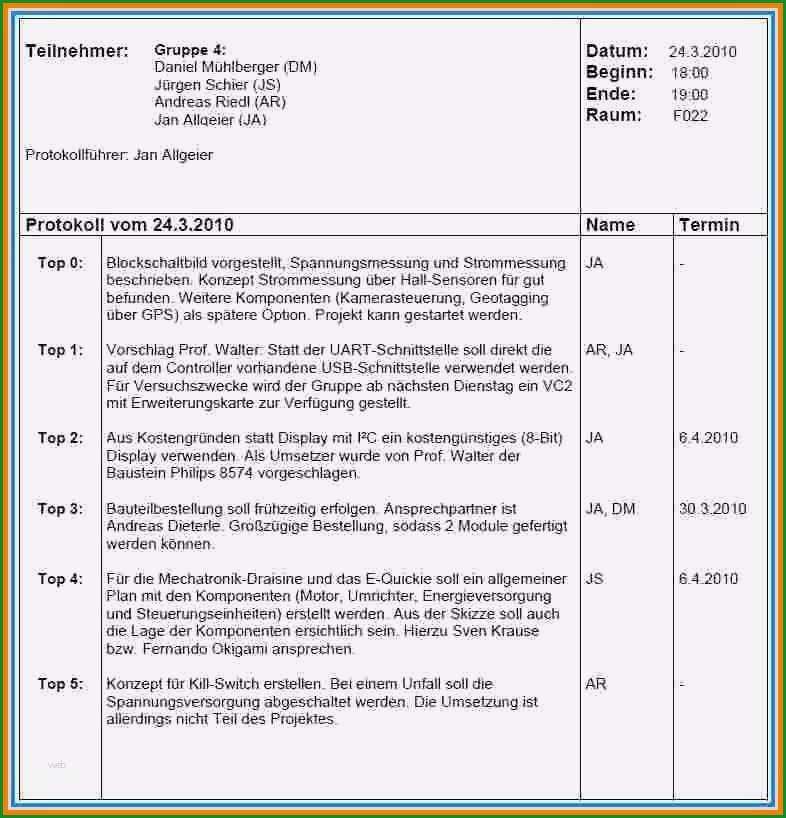 bestellung schreiben 12 ergebnisprotokoll schreiben muster