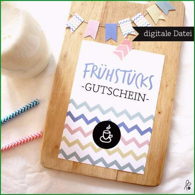 gutschein printable pdf fruehstueck wimpel
