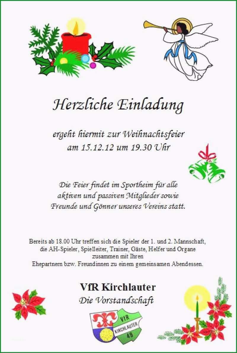 Fantastisch Einladung Weihnachtsfeier Vorlage Word