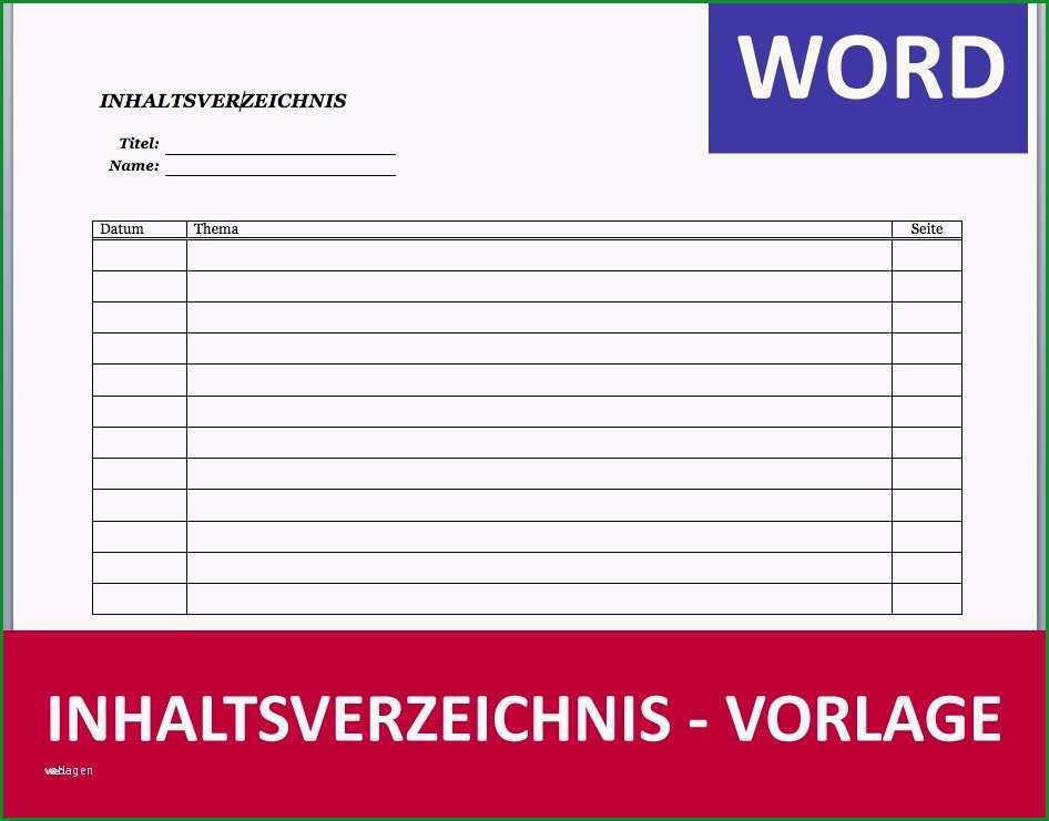 frachtbrief vorlage word sus inhaltsverzeichnis muster vorlage word schule einfach