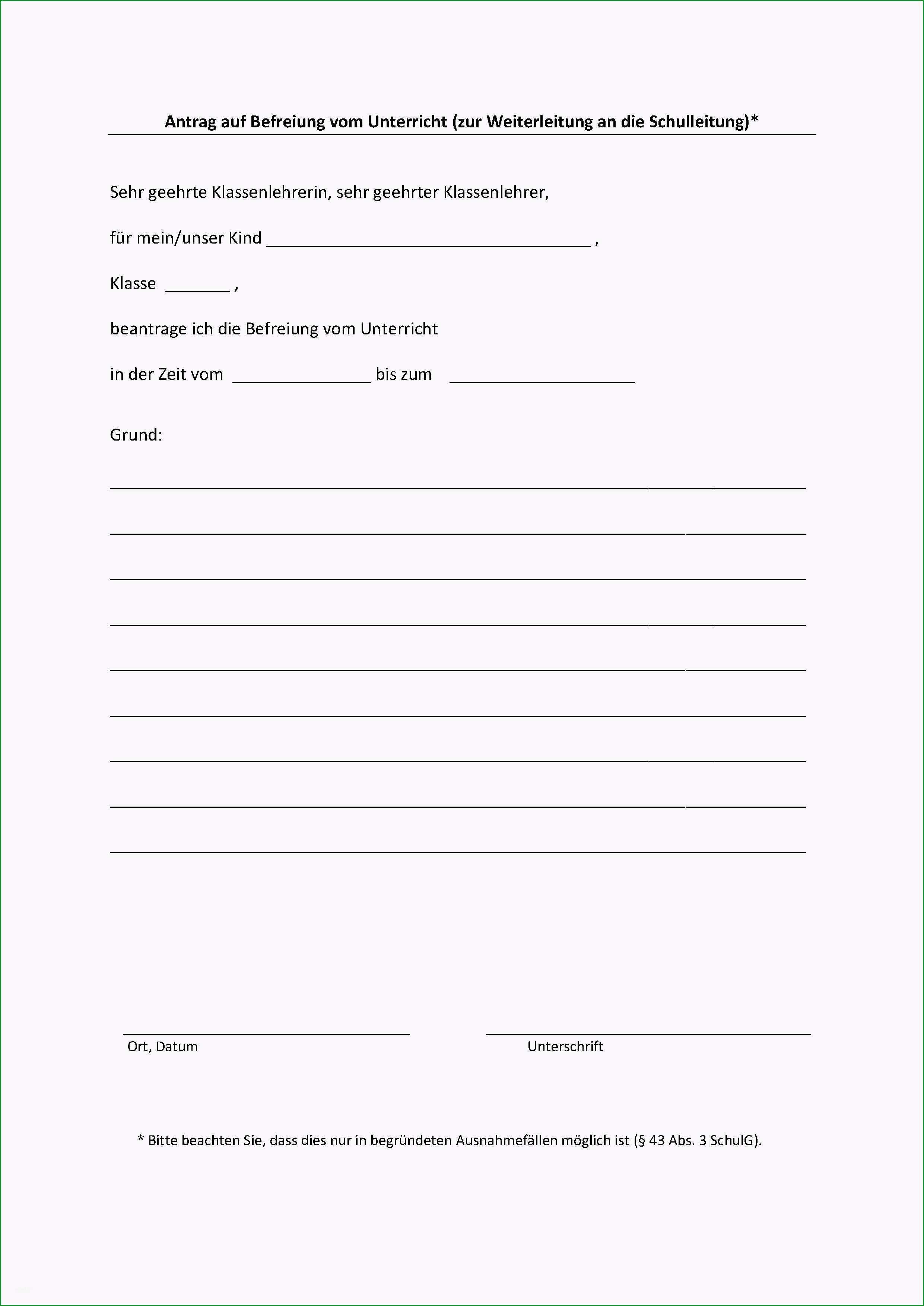 139 formulare fuer entschuldigungen und beurlaubungen