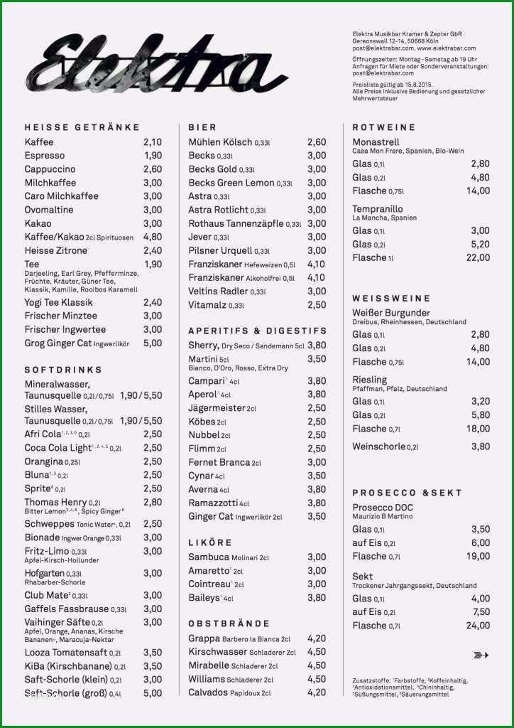 rankekarte vorlage pdf sus rankekarte der elektra musikbar koln drinks und musik