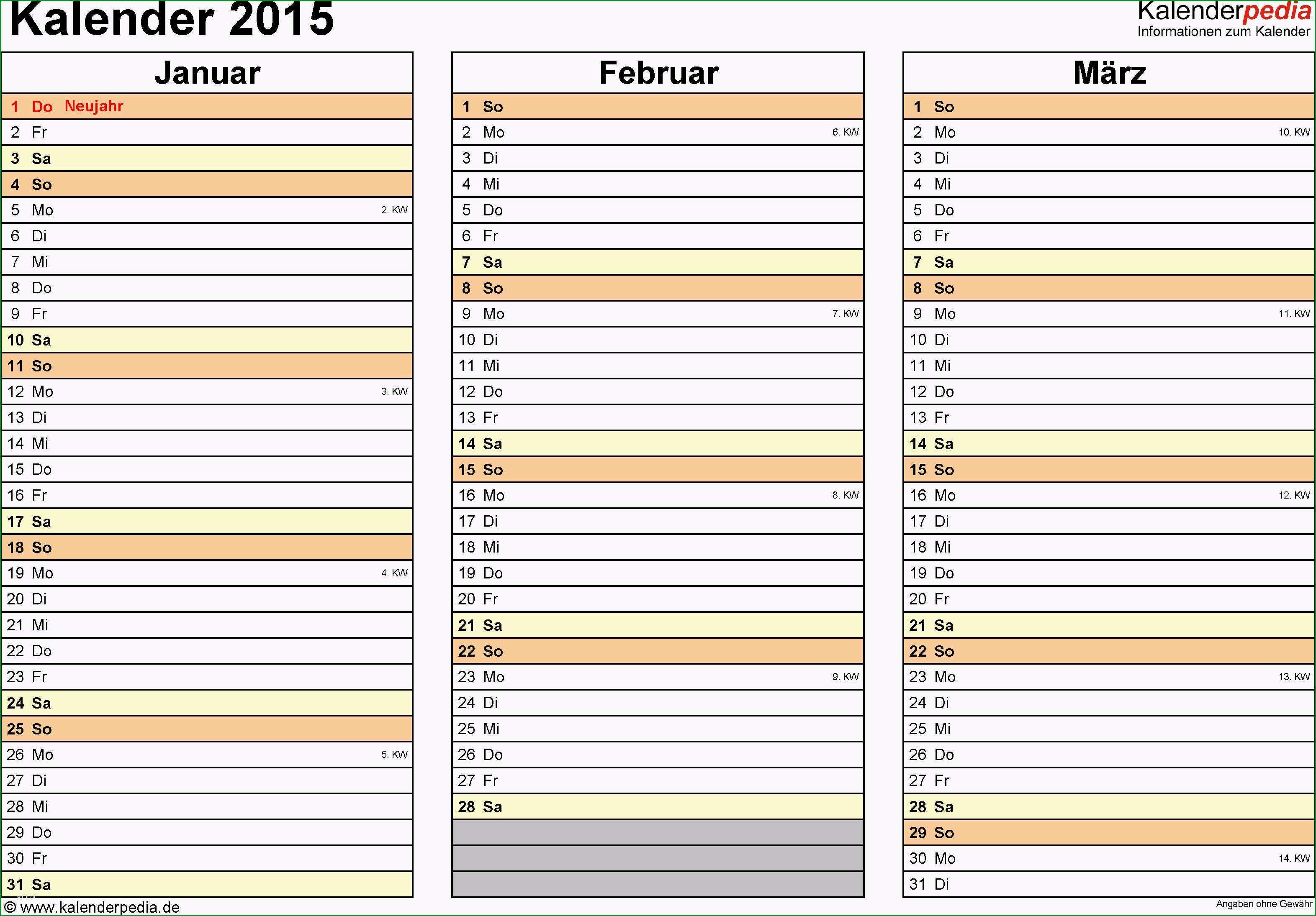 kalender 2015 in excel zum ausdrucken 16 vorlagen mit kalender vorlage excel