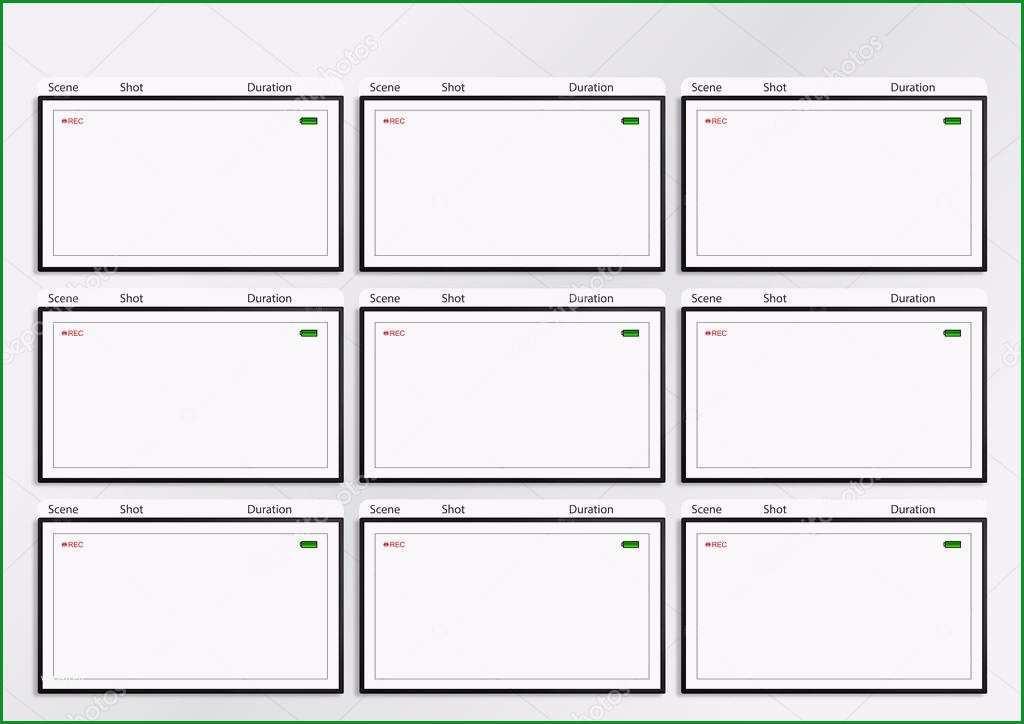 stock photo camera viewfinder storyboard template 9