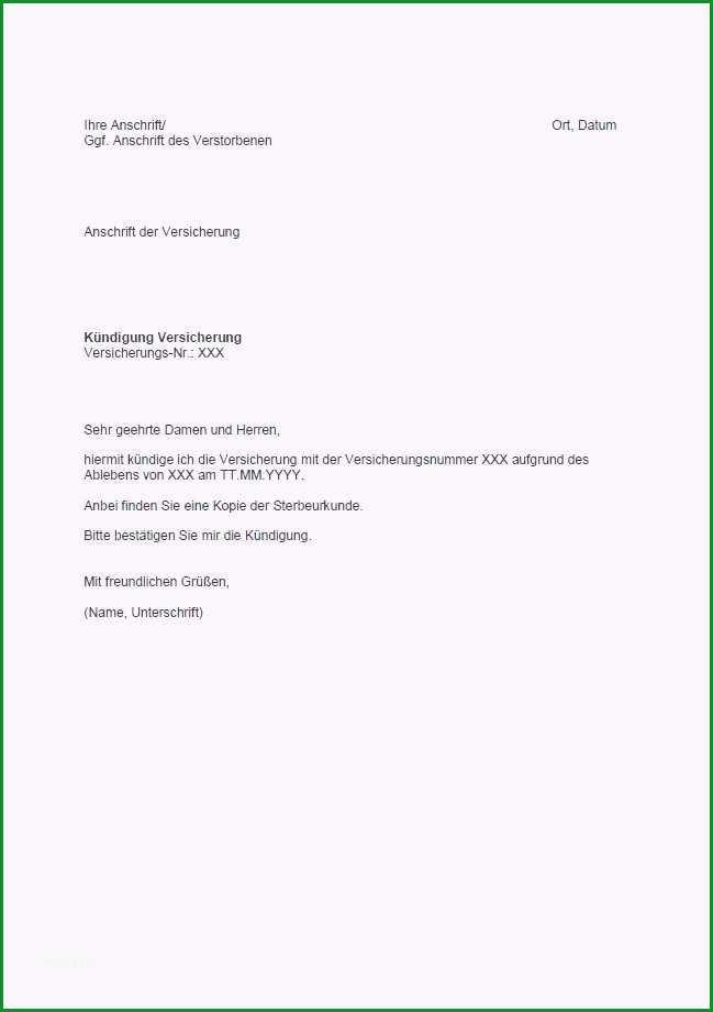 kundigung versicherung vorlage inspirierende eidesstattliche versicherung vorlage