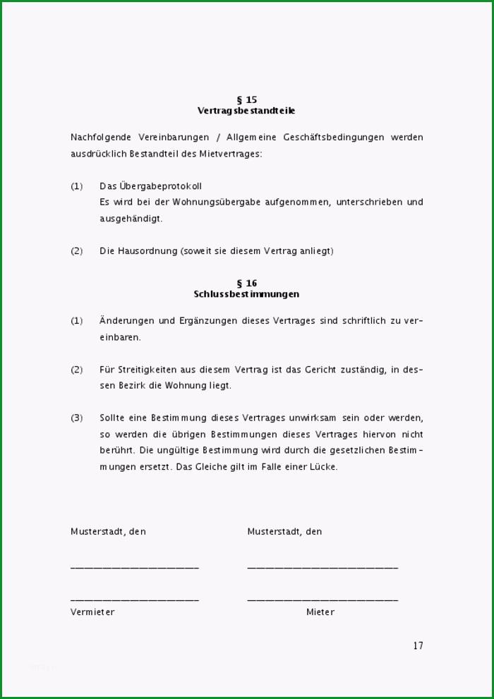 mietvertrag wohnung inkl uebergabeprotokoll