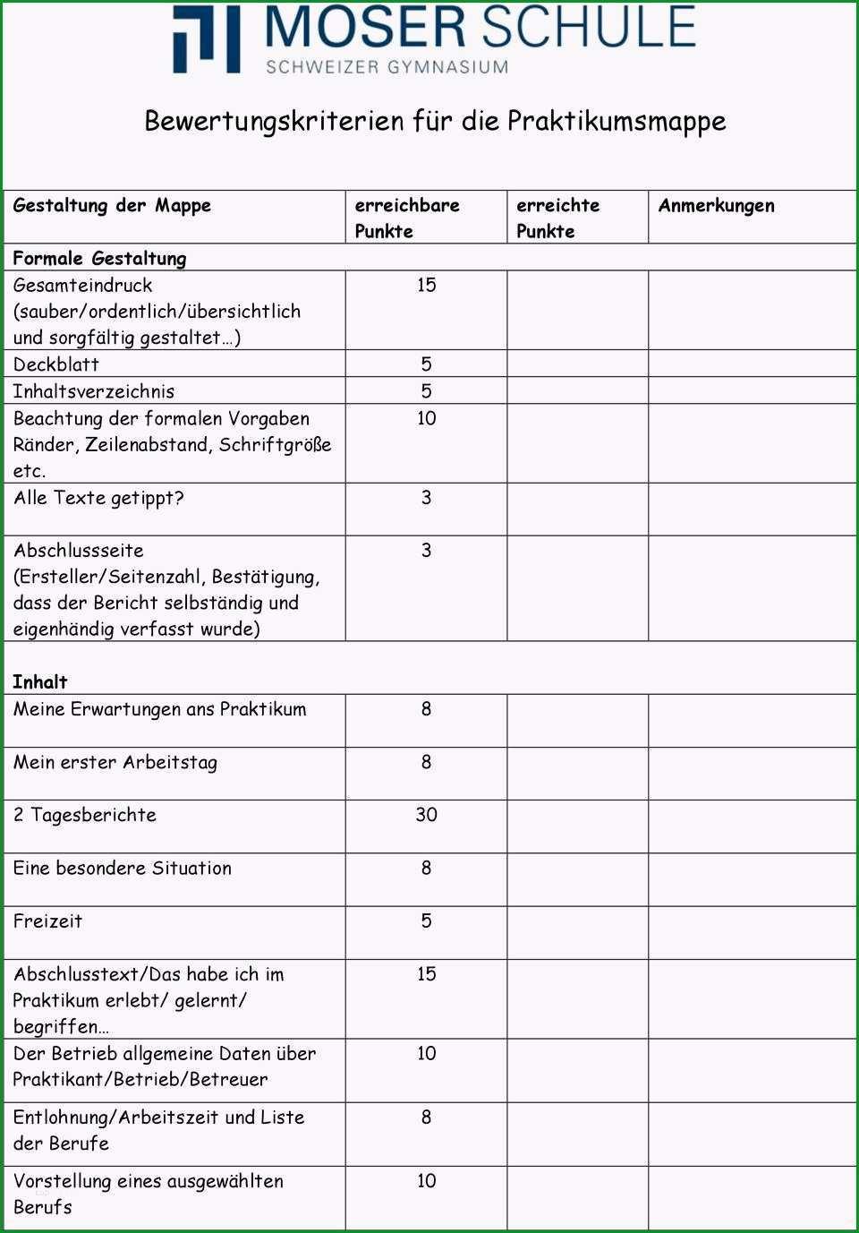 Fantastisch Praktikumsmappe Vorlage 9 Klasse Einzigartig Deckblatt