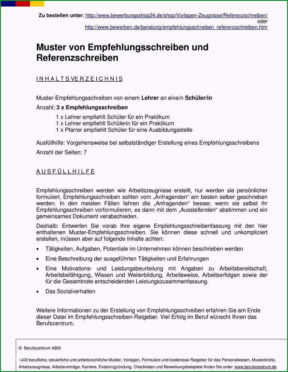 praktikumszeugnis vorlage schuler hubsch muster von empfehlungsschreiben und referenzschreiben pdf