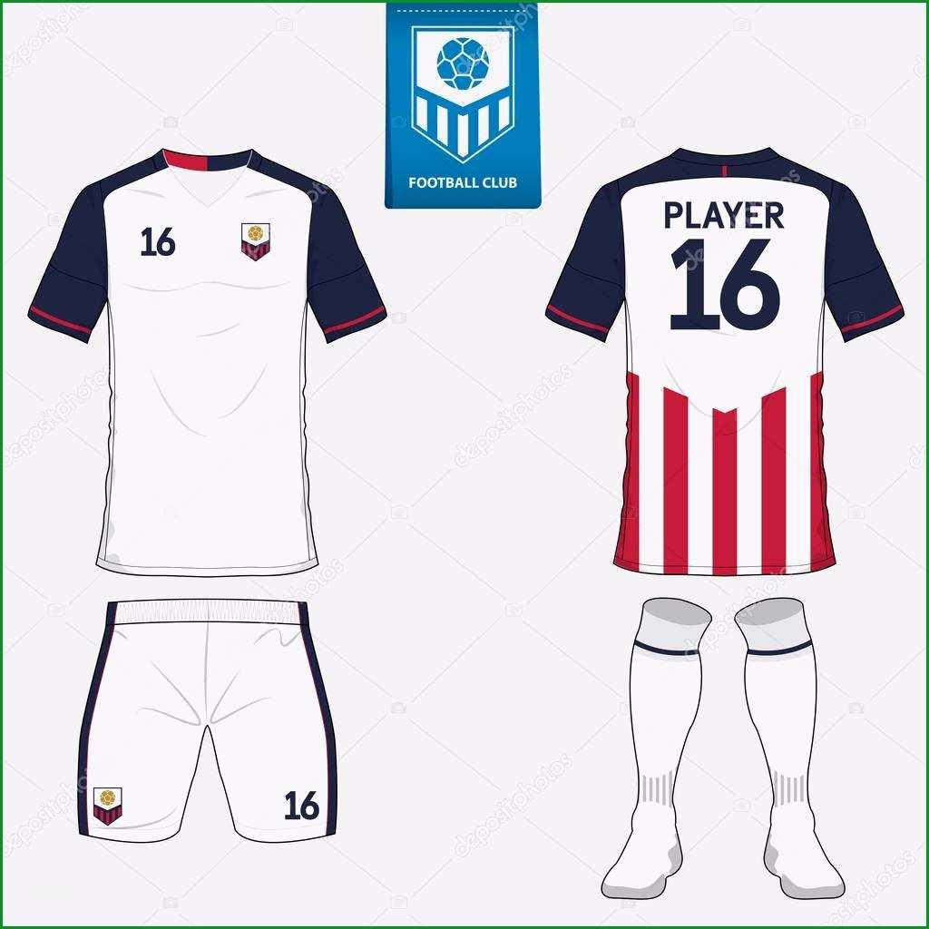 stock illustration set of soccer kit or
