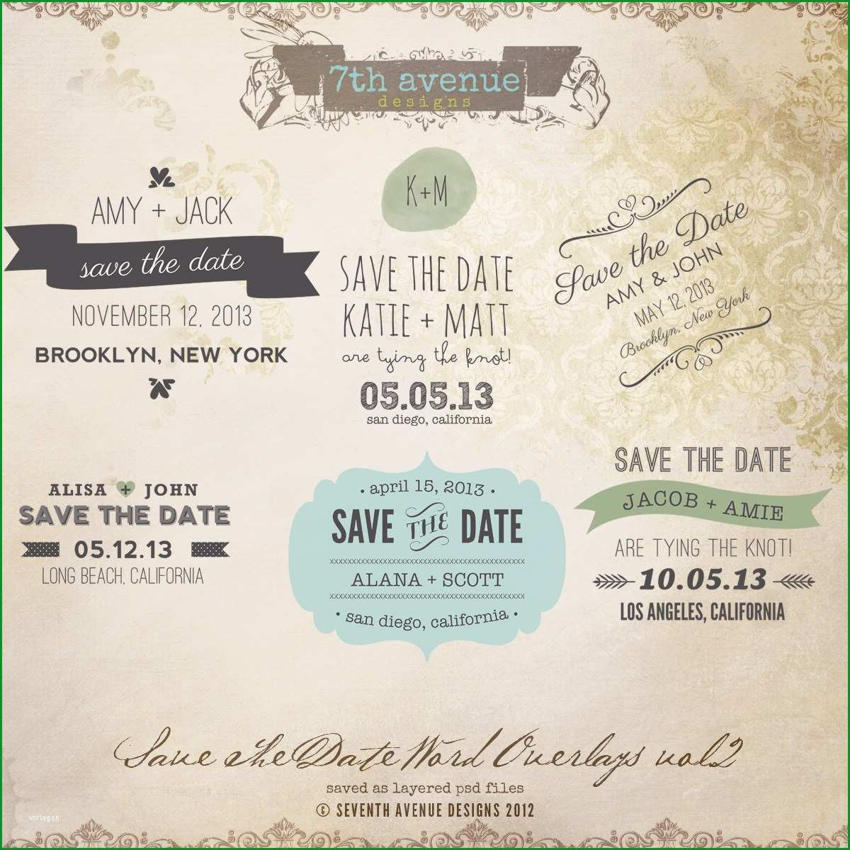 save the date vorlage word