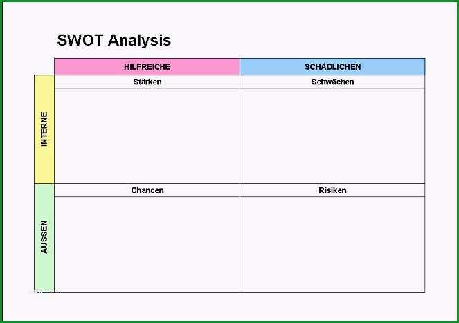swot analyse vorlage best of swot analysis vorlagen excel vorlagen kostenlos herunterladen