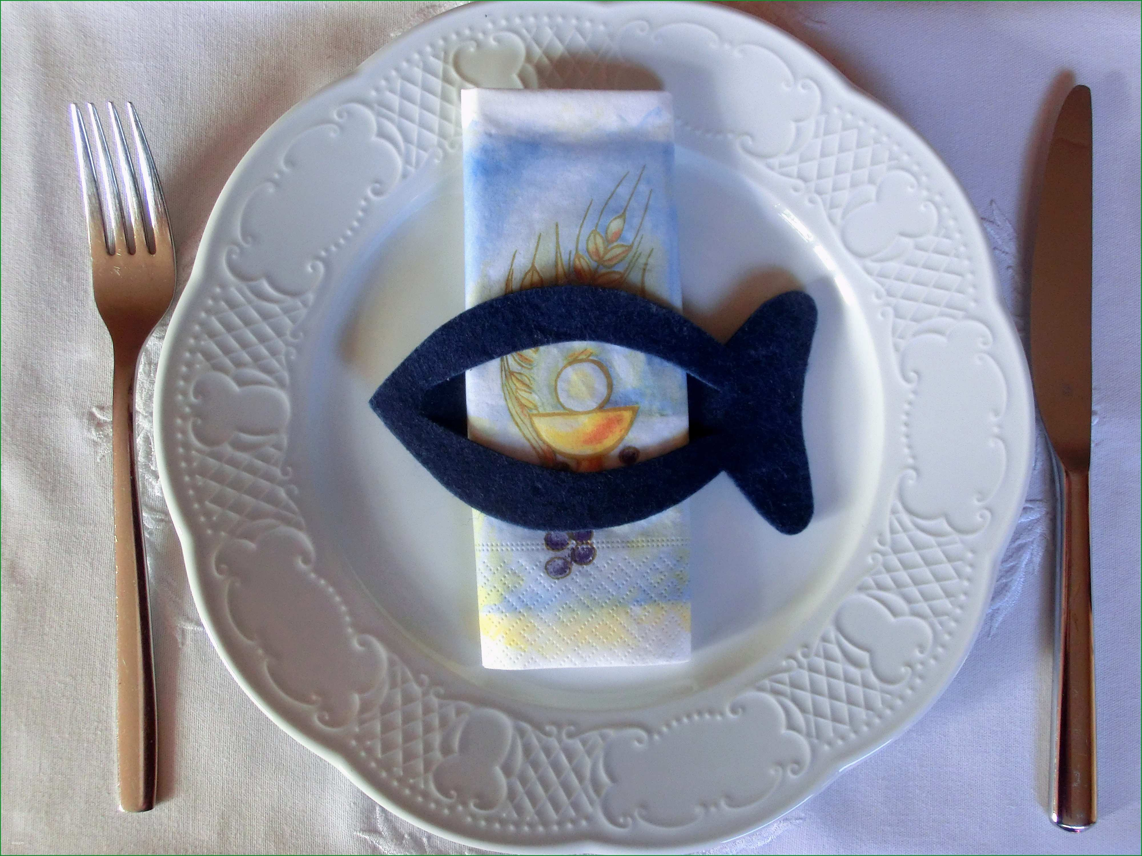 taufe fisch vorlage schon dekoration 6 filz fisch serviettenring kommunion konfirmation