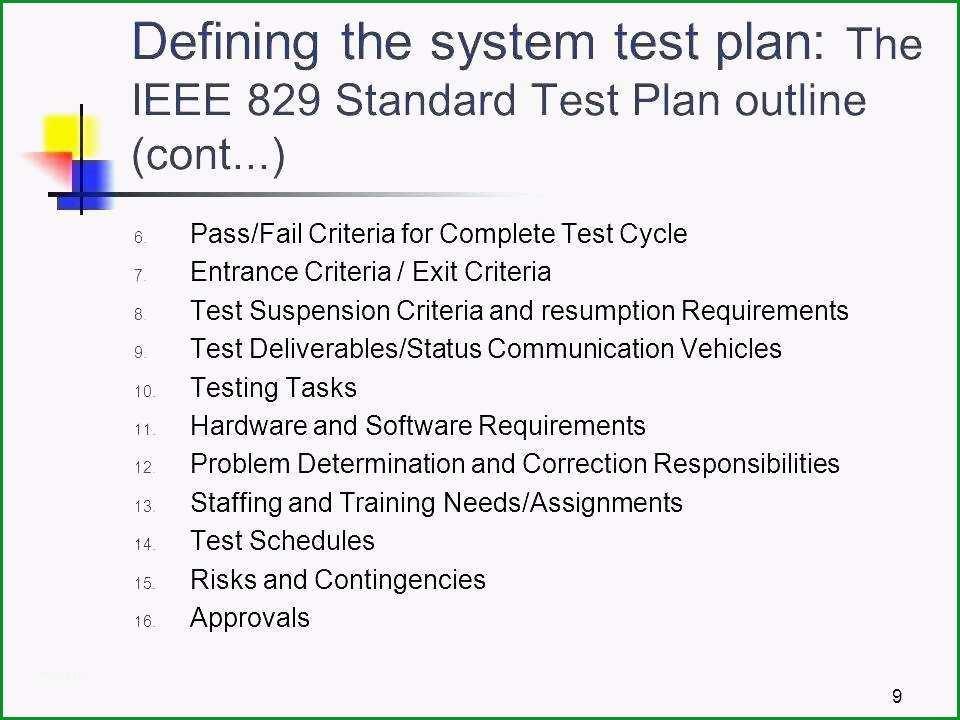 testplan vorlage 3