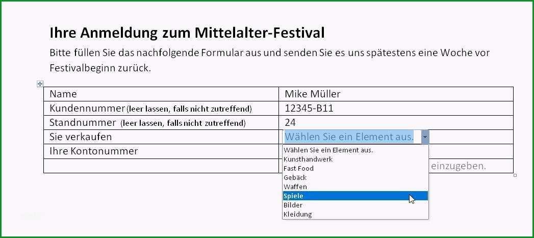 word 2013 formular erstellen