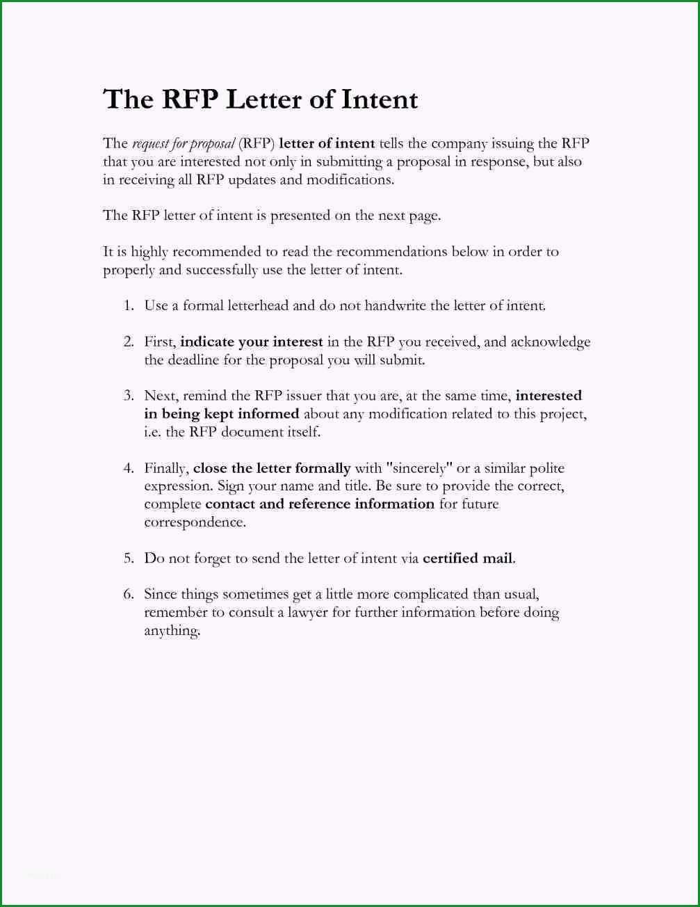 11 letter of intent vorlage