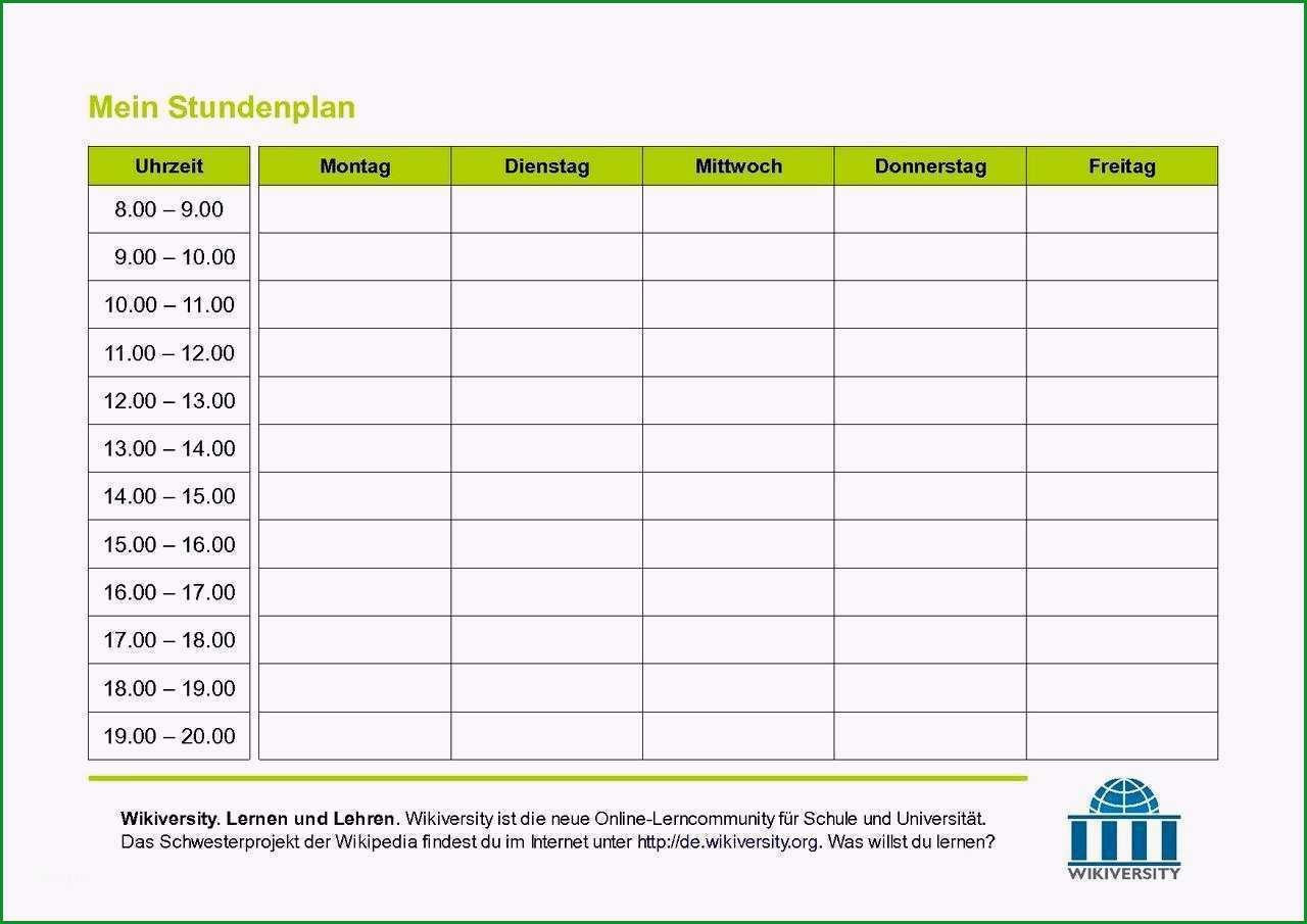 aufmas vorlage pdf bewundernswert stundenplan vorlage to