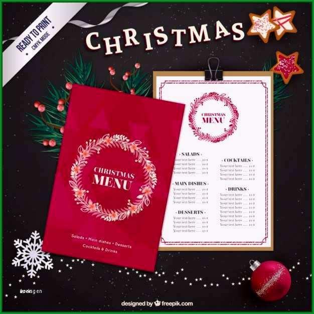 speisekarte vorlage weihnachten