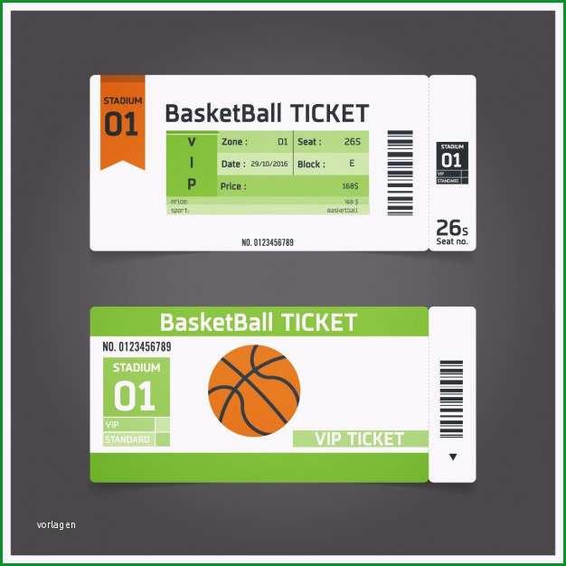 basketballspiel ticket vorlage