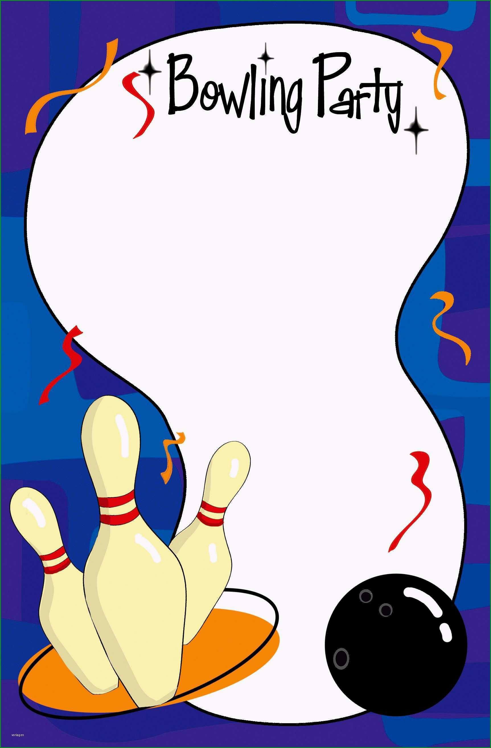 bowling einladung vorlage