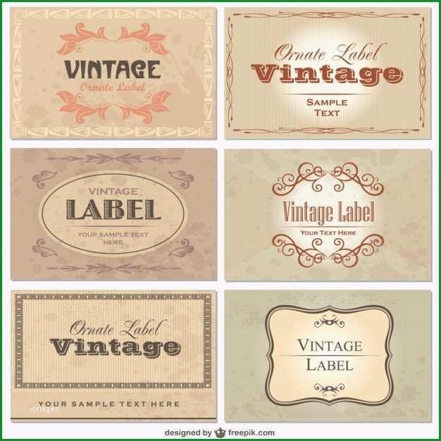etiketten vorlagen kostenlos vintage