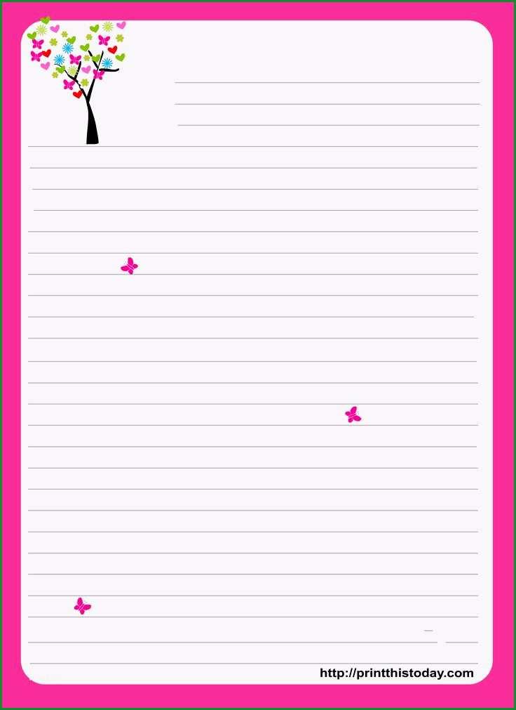 happy birthday stationery free printable