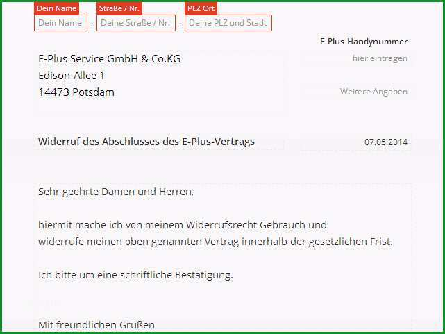 Kabel Deutschland Widerruf Vorlage