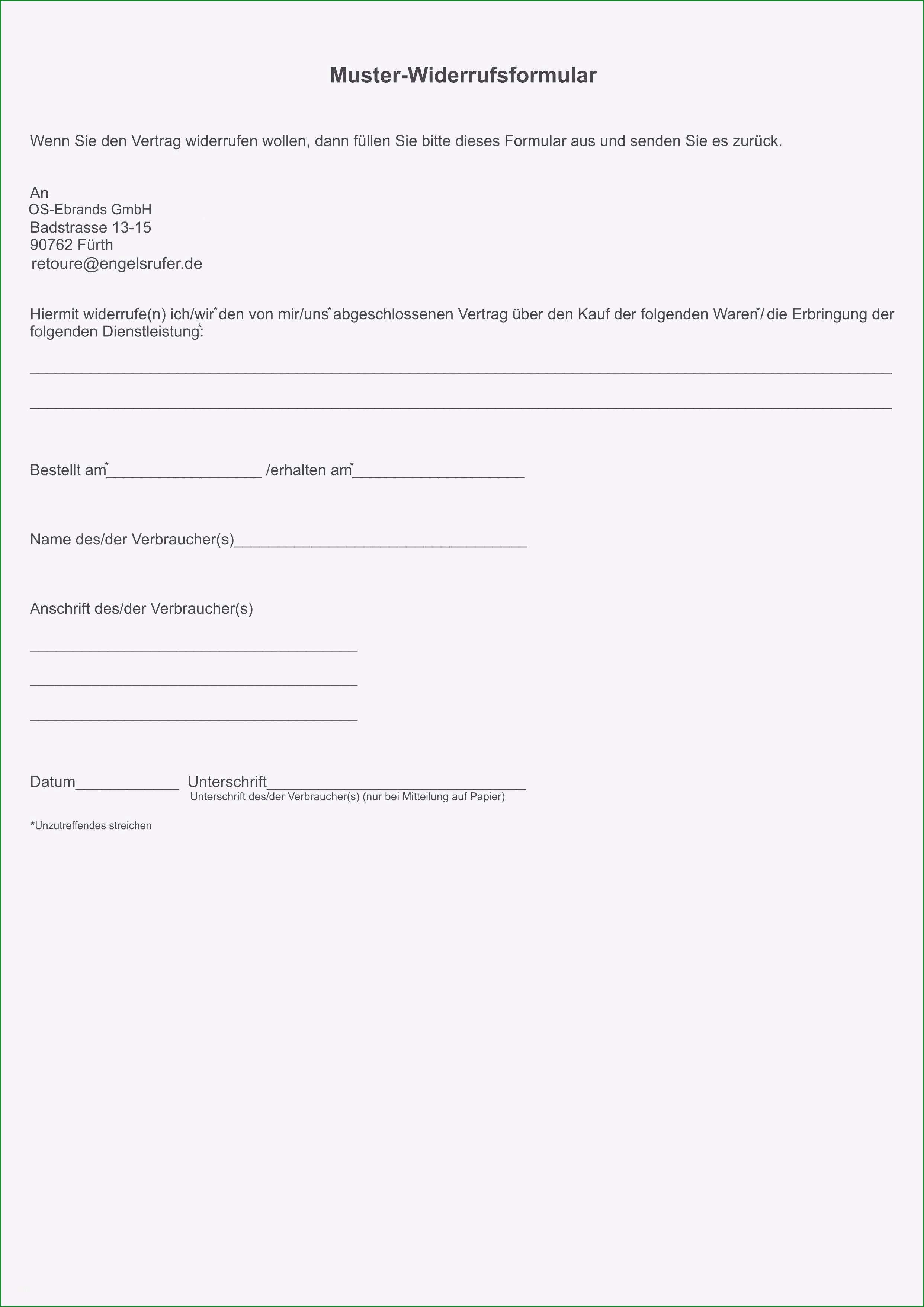kundigungsschreiben versicherung kfz beispiel vodafone widerruf vorlage