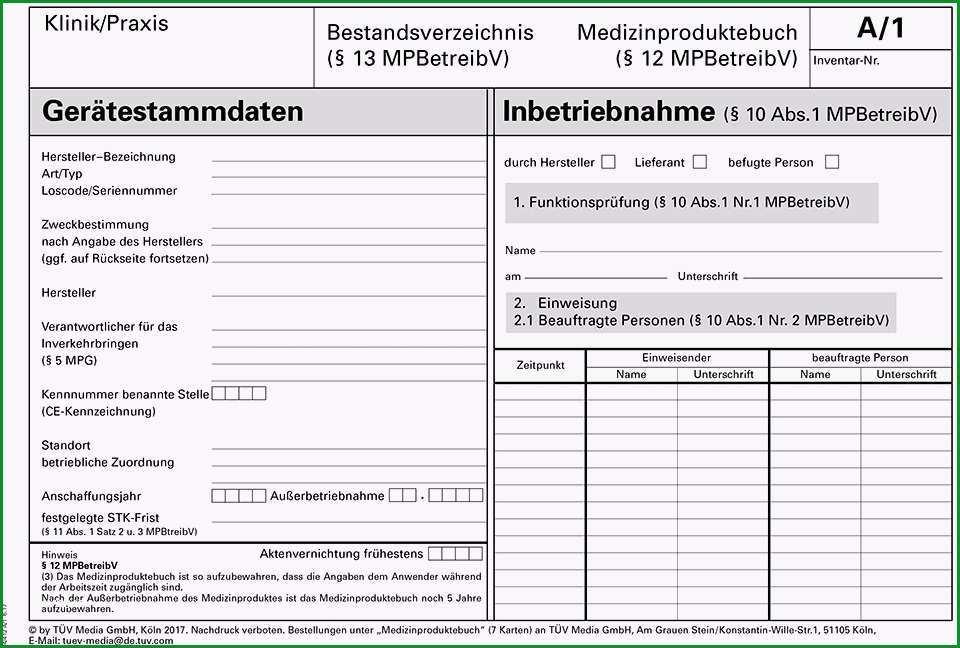 rolf ter boeckmann medizinproduktebuch bestandsverzeichnis produkt details
