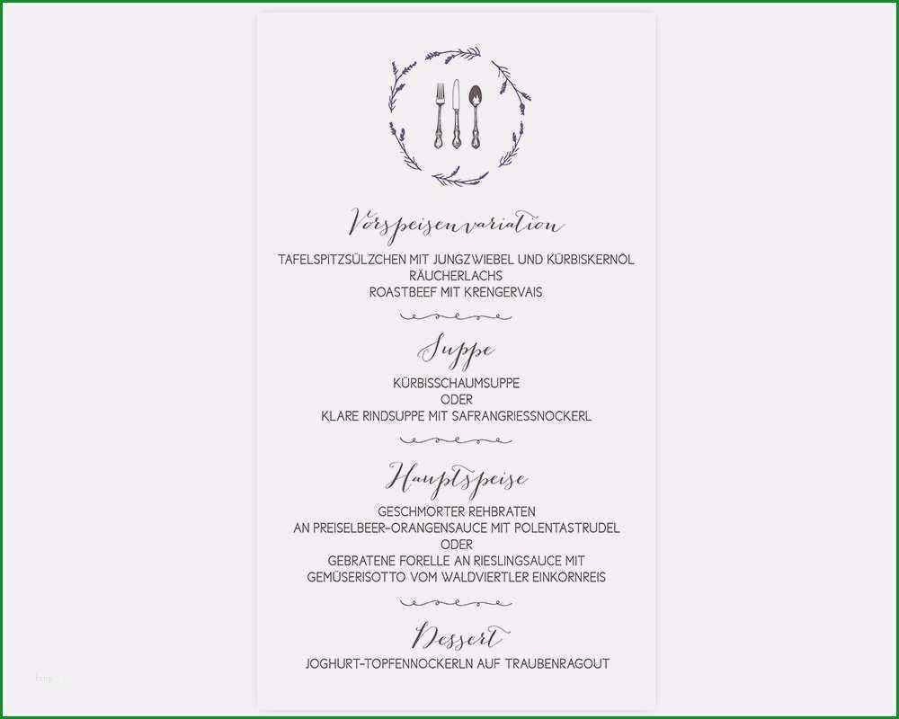 menukarte hochzeit vorlage word wunderbar menukartequotsweet lavenderquot