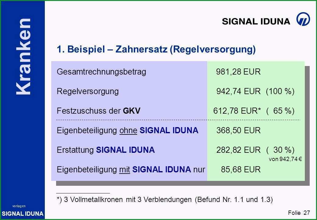 signal iduna zahnzusatzversicherung rechnung einreichen 5366