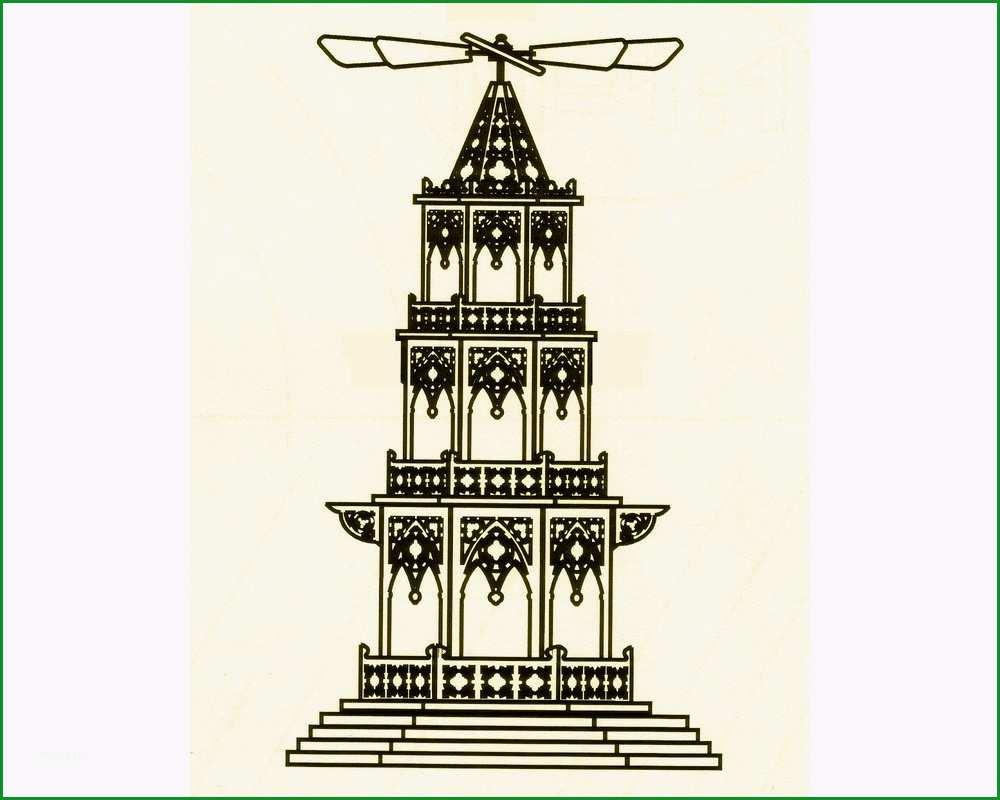 Faszinieren Weihnachtspyramide Vorlage Gothischer Stil 3 Stöckig