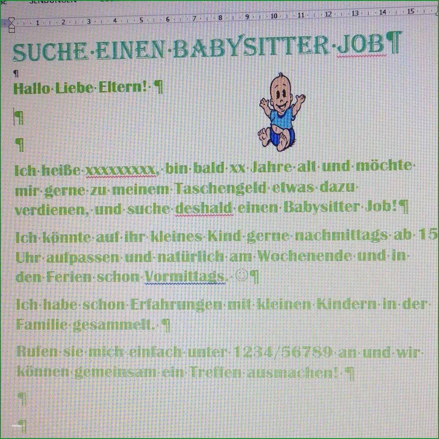 babysitting aushang vorlage beste groszugig babysitter werbung vorlage ideen entry level 2