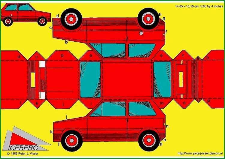 basteln auto k3414