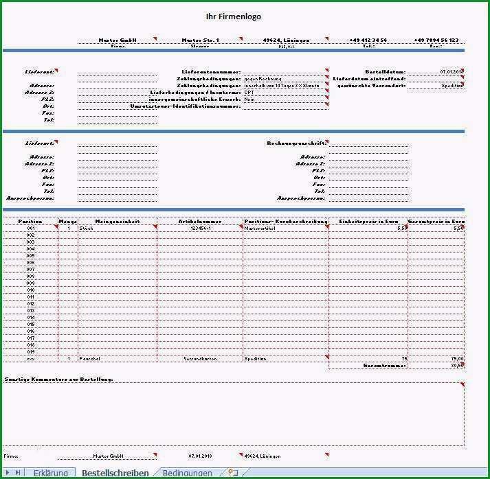 bestellformular vorlage excel einzigartig muster tabellen vorlagen einkauf projekt einkauf