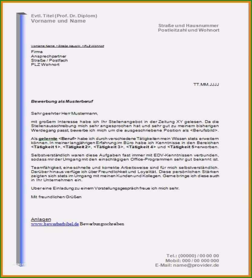 bewerbungsanschreiben vorlagen und muster 4