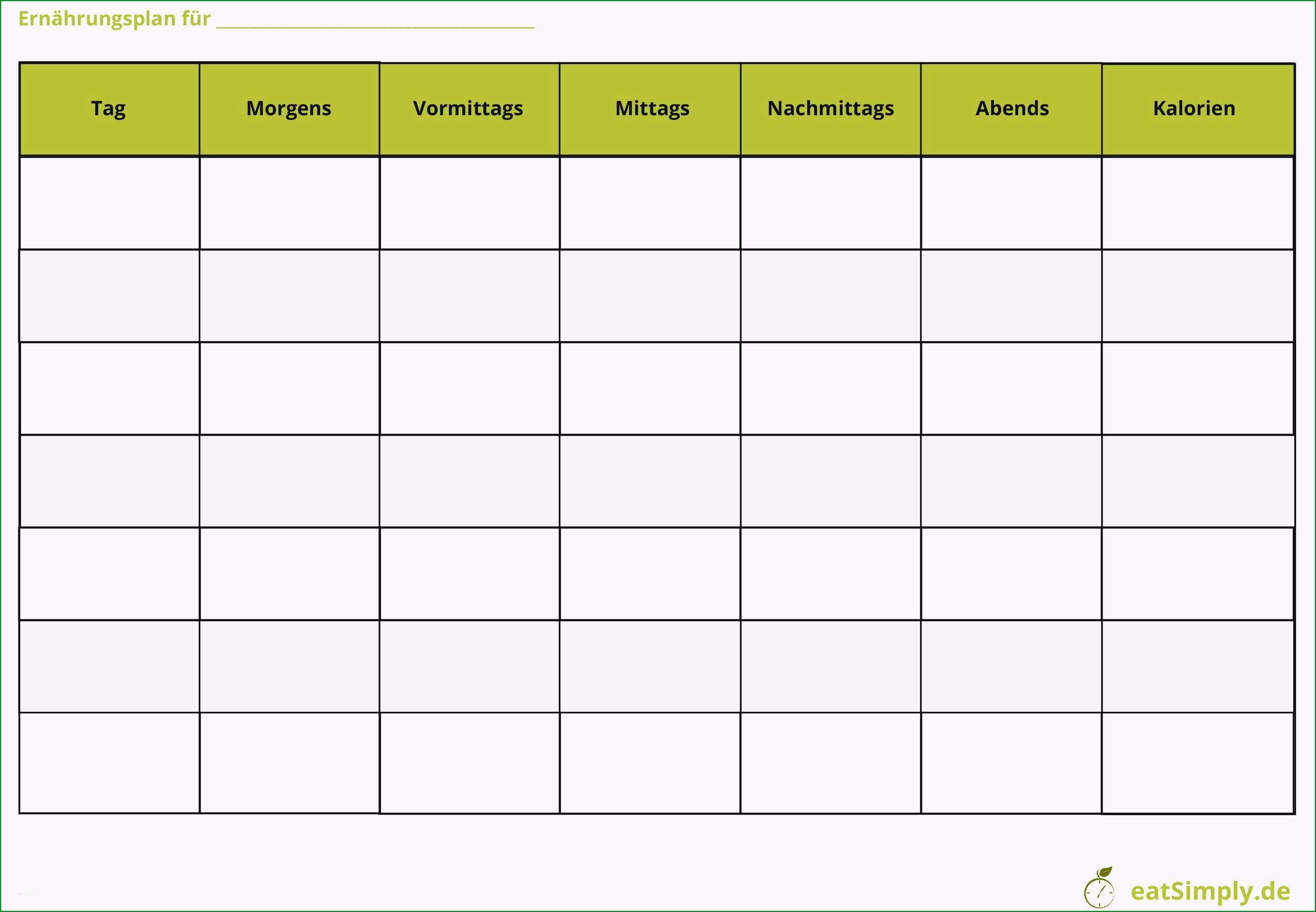 blutzucker tabelle vorlage elegant ernahrungsplan erstellen mit kostenloser app