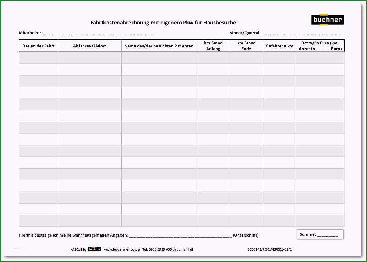 einarbeitungsplan vorlage word schon fahrtkostenabrechnung mit eigenem pkw fur hausbesuche