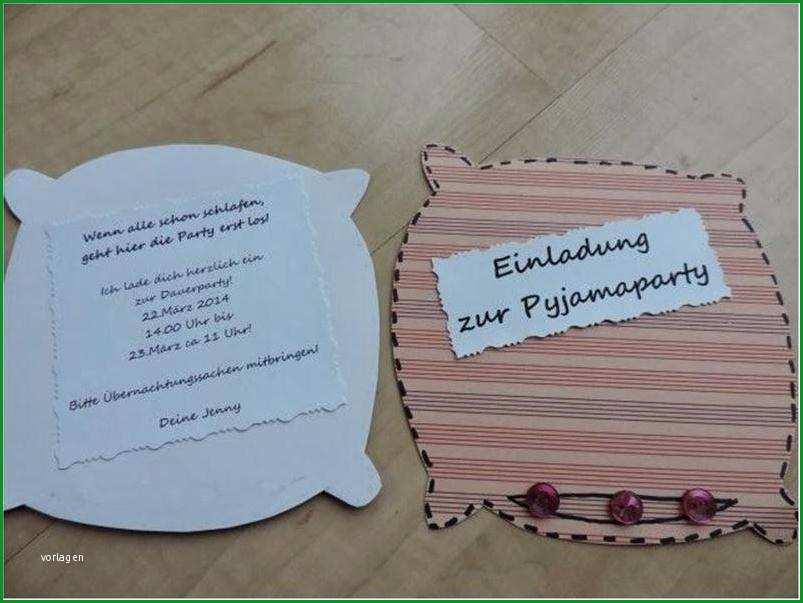 Großartig Einladung Schrecklich Einladung Pyjamaparty Schick