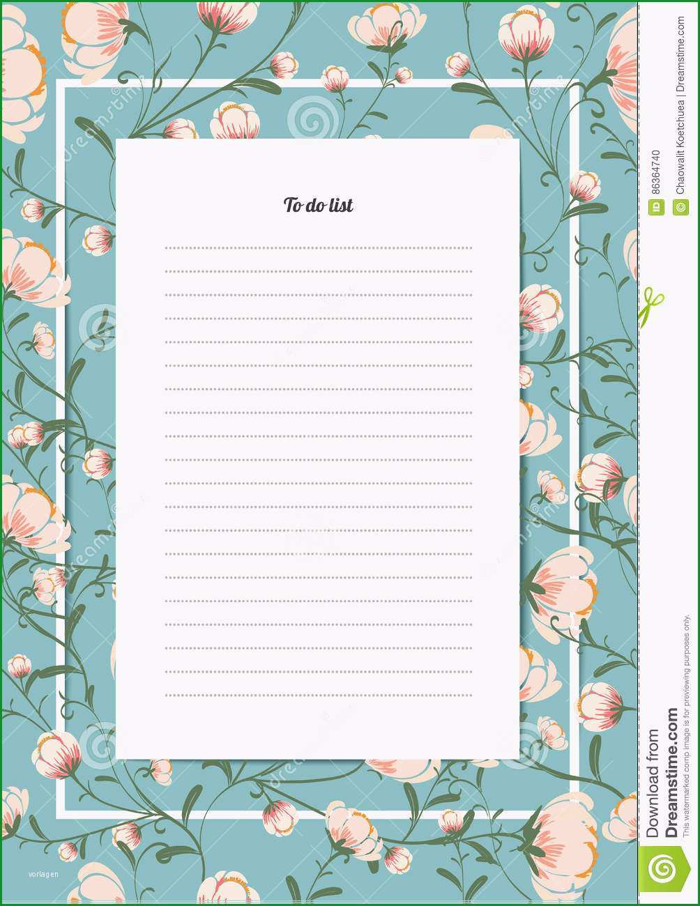 stock illustration flowers poster template blossoms vintage style to do list bouquet image