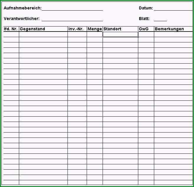 Großartig Inventur Vorlage Excel Vorlagen Shop