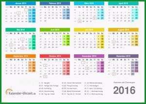 ausdrucken Jahreskalender 2016 PDF Farben