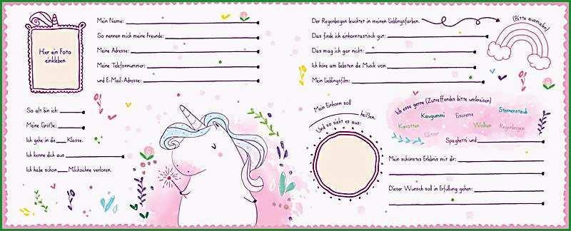 mein einhorntastisches freundebuch einhorn freundebuch 1