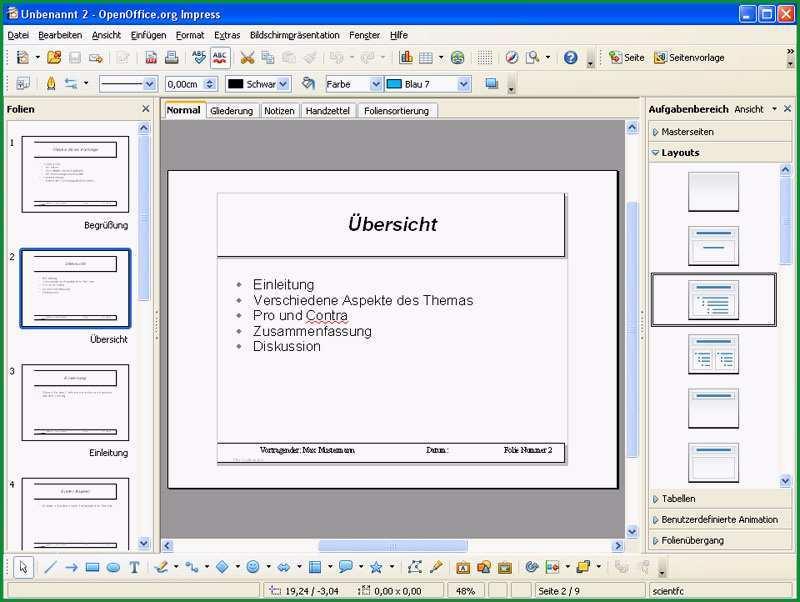 Open fice Vorlagen Professional Template Pack