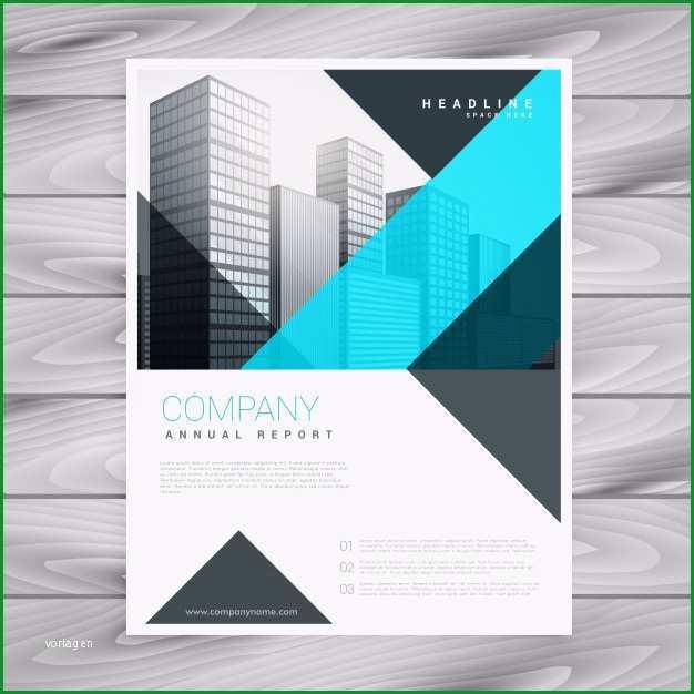 saubere blaue broschure design vorlage