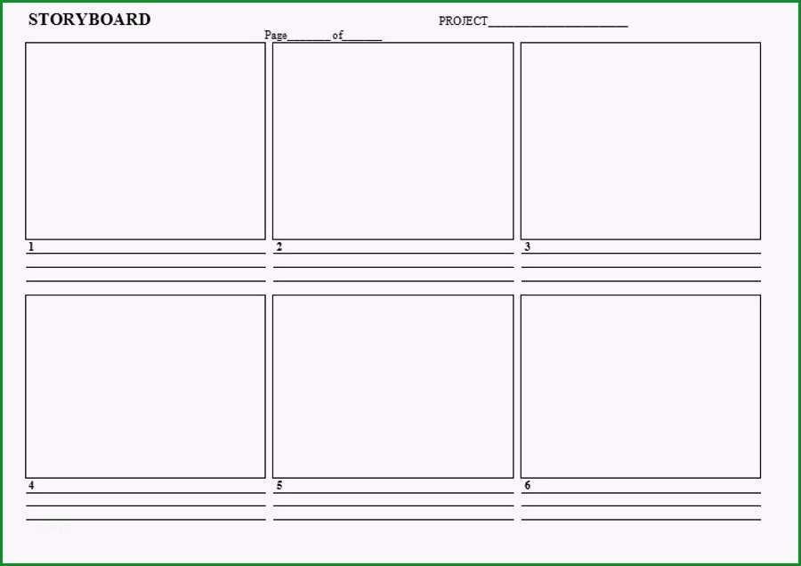 storyboard vorlage word