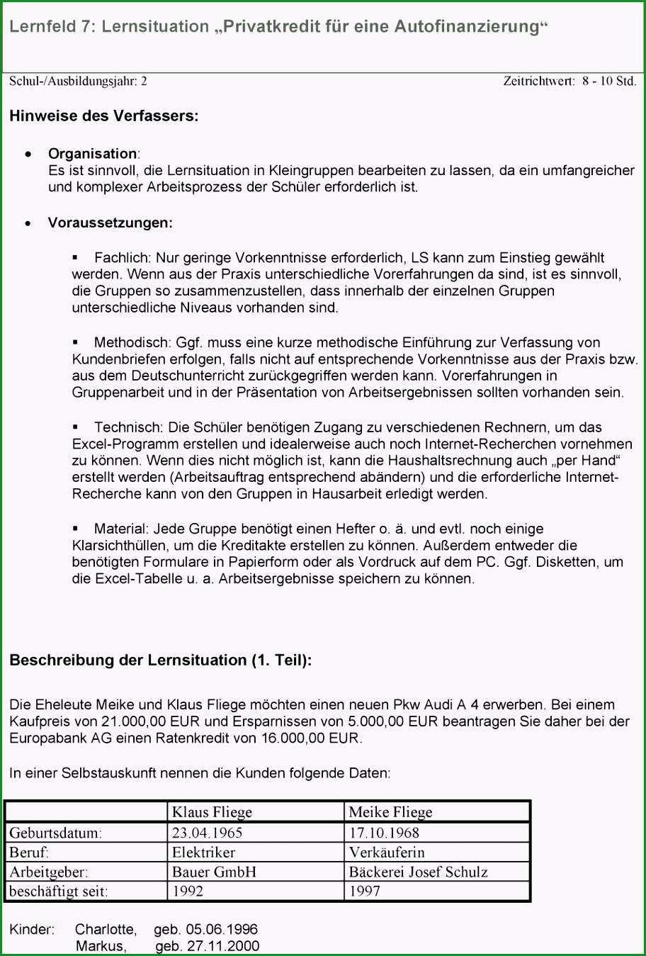 Hervorragen 18 Privatkreditvertrag Vorlage Vorlagen123 Vorlagen123